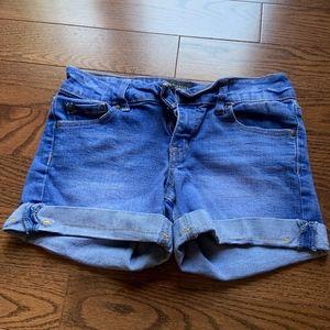 blue jean shorts